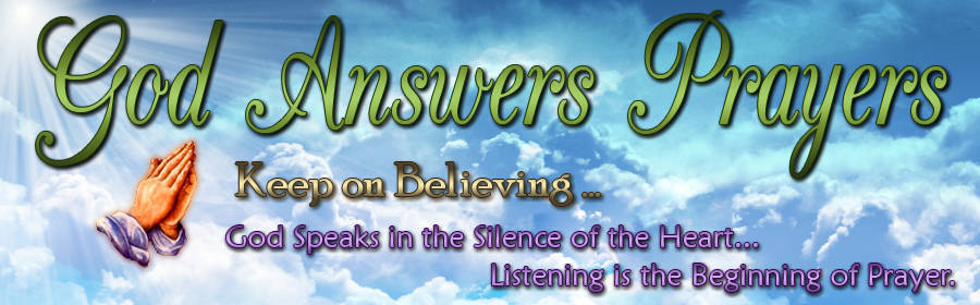 God Answers Prayers Header