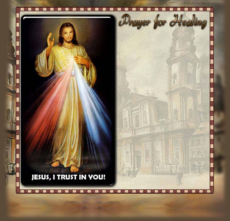 Divine Mercy Miracle Healing Prayer for the Sick