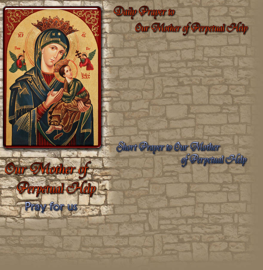 our mother of perpetual help daily prayer