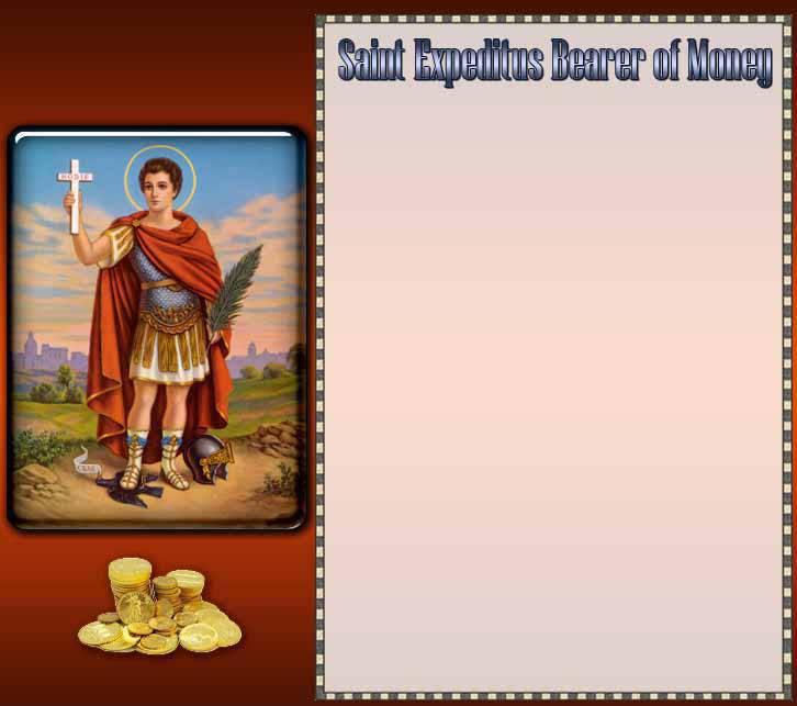 Prayer to Saint Expeditus Bearer of Money